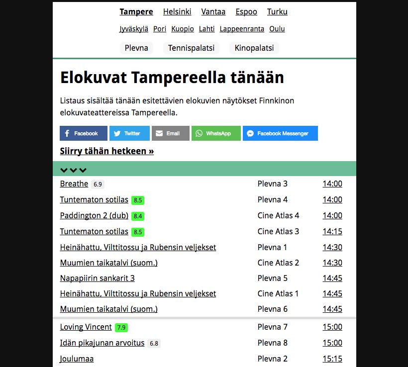 finnkino tampere ohjelmisto